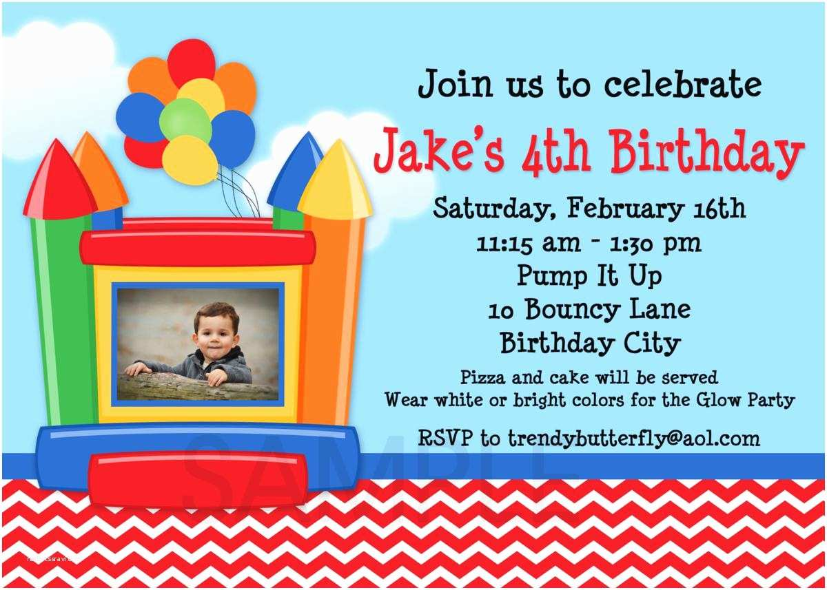 House Party Invitation Best Pilation Bounce House Birthday Party
