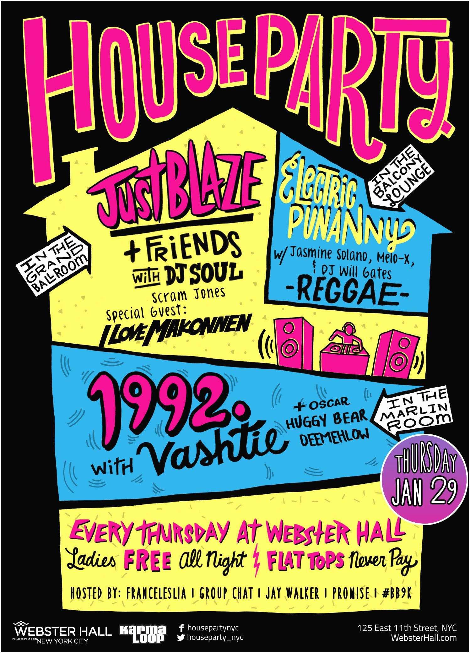 House Party Invitation House Party Invitation – Gangcraft