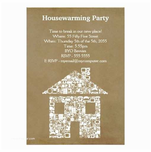 House Party Invitation House Warming Moving Party Invitation Card