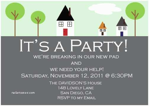 House Party Invitation House Warming Party Invitation