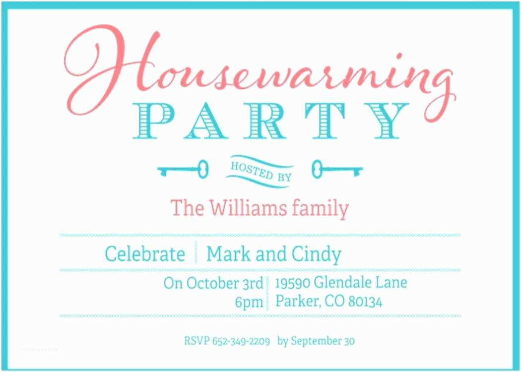 House Party Invitation Housewarming and Open House Invitations