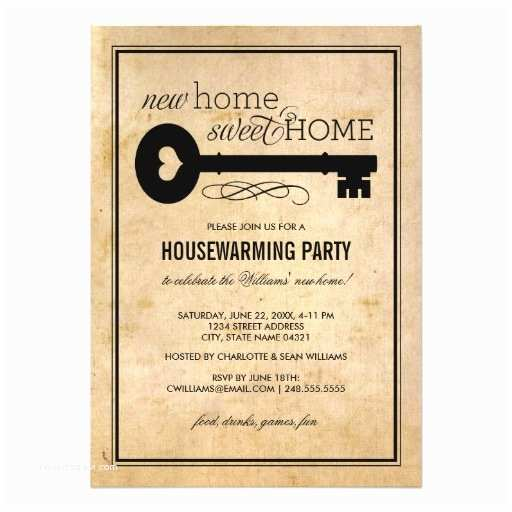 housewarming party new home sweet home invitation card