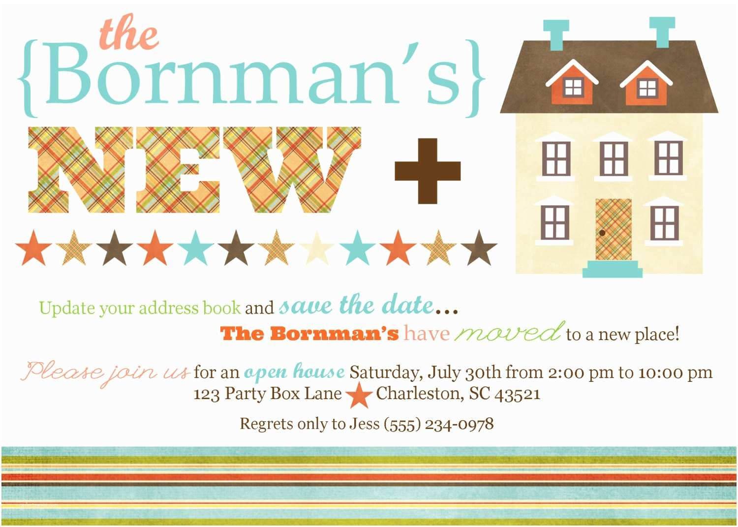 House Party Invitation New Home Open House Party Invite 20 Printed 5 X7