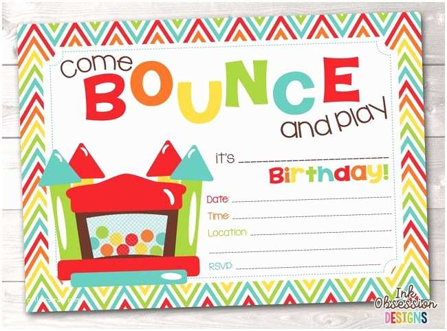 House Party Invitation top 25 Best Bounce House Parties Ideas On Pinterest