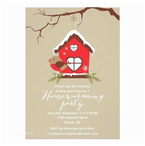House Warming Party Invitations Holidays Robin Housewarming Party Invitation Card