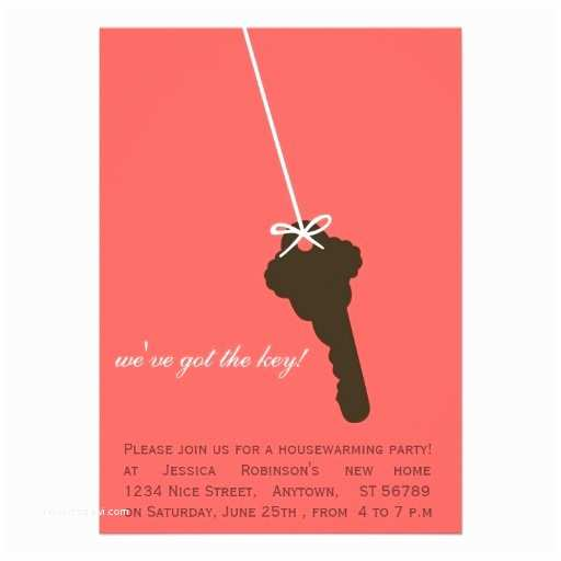 /housewarming/housewarming Invitation Ideas Cute Pink Key Housewarming Party Invitations