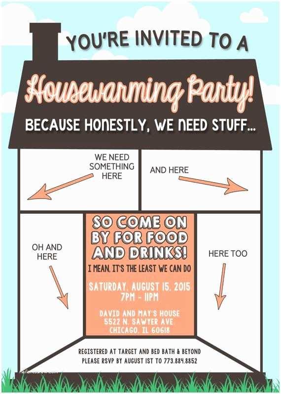 /housewarming/housewarming Invitation Wording Funny Housewarming Invitation by Lilygramdesigns On Etsy