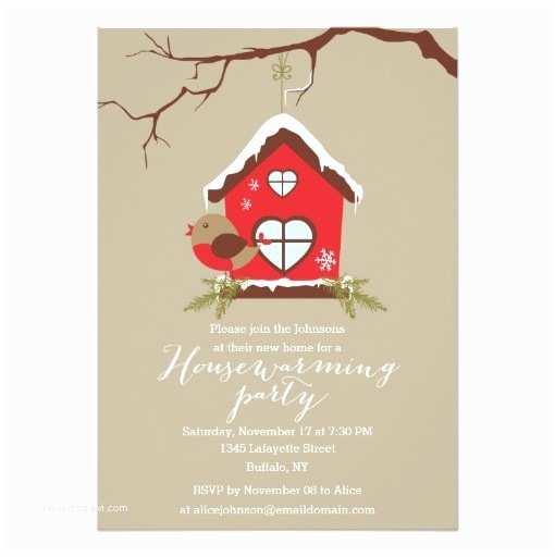 /housewarming/housewarming Invitation Wording Holidays Robin Housewarming Party Invitation Card