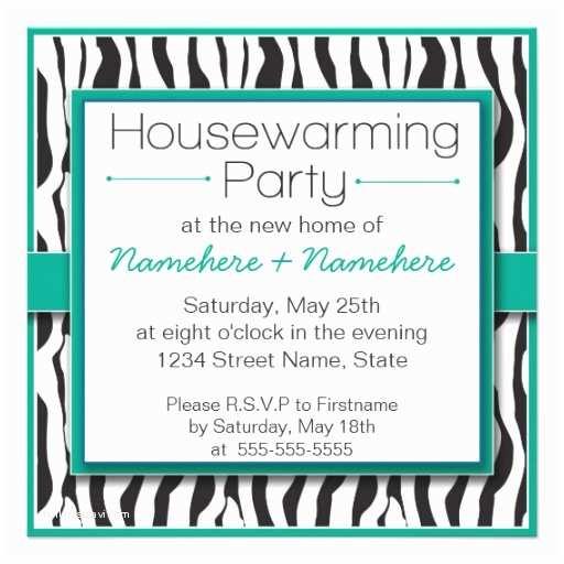 /housewarming/housewarming  Free Emerald Zebra Print Housewarming Party