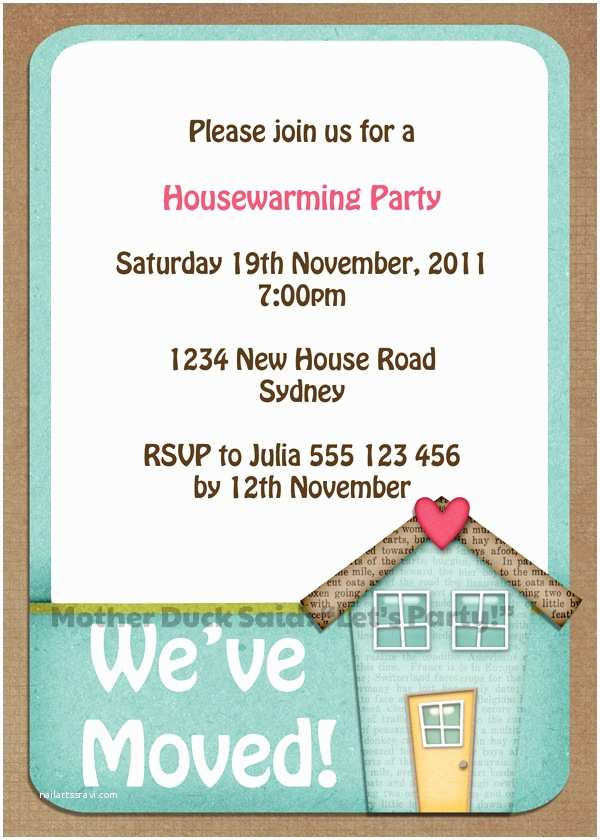 """/housewarming/housewarming Invitations Free Mother Duck Said """"lets Party """" Change Of"""