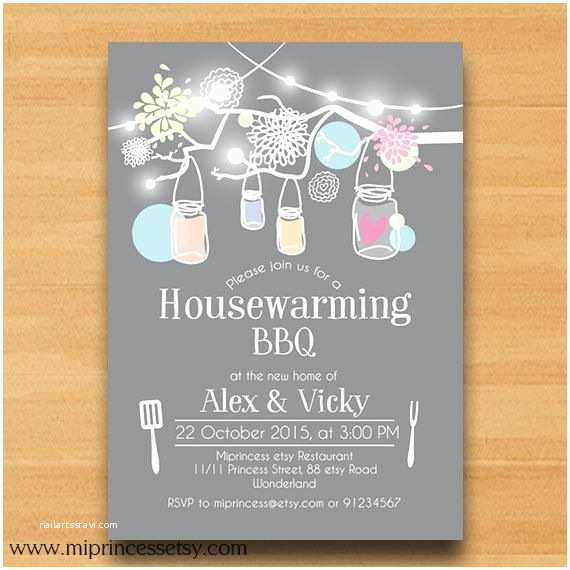/housewarming/housewarming Invitations Housewarming Invitation New House Mason Jar Bbq by