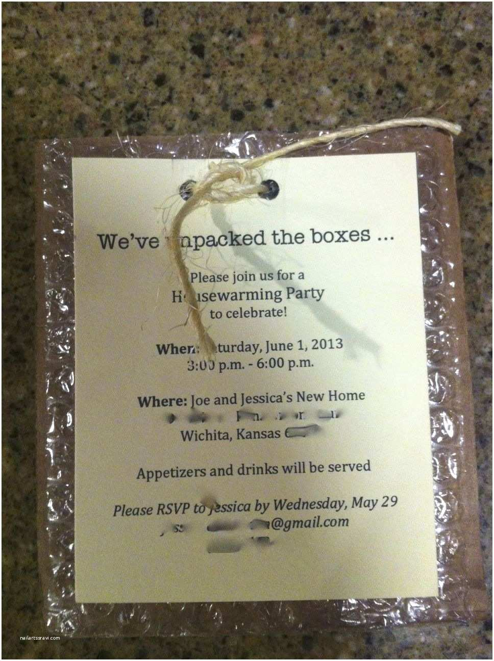 /housewarming/housewarming Invitations Our Housewarming Party Invitation with Personal Info