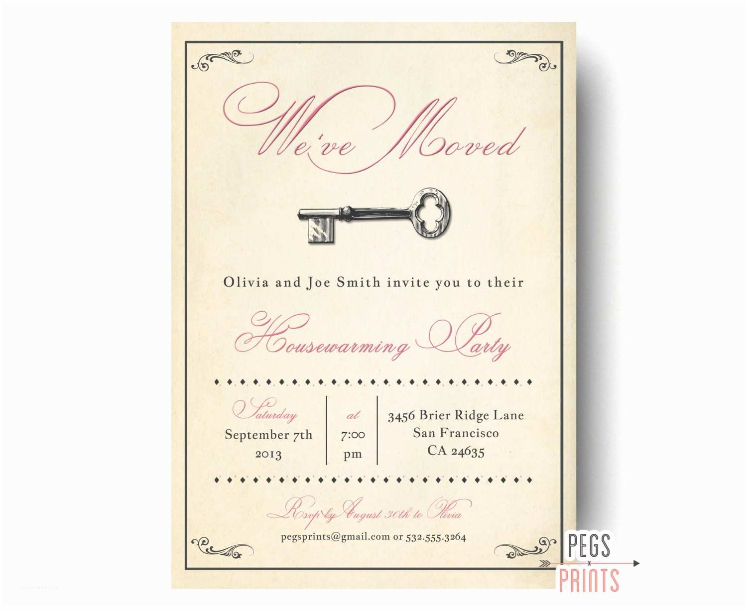 /housewarming/housewarming Invitations Vintage Housewarming Party Invitation Rustic House Warming