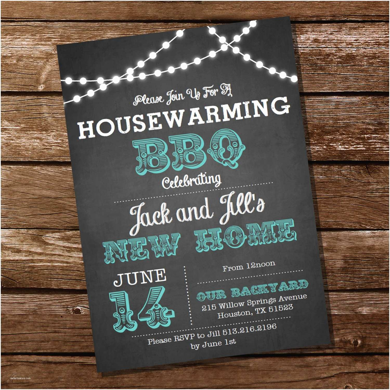 Housewarming Party Invitation Chalkboard Housewarming Bbq Invitation Housewarming Party