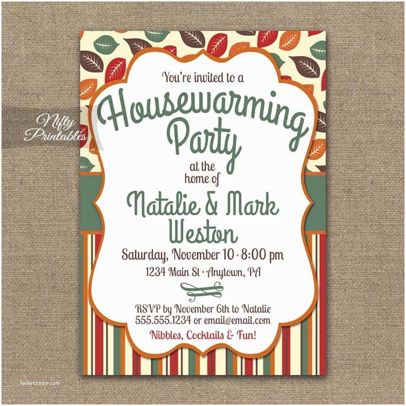 Housewarming Party Invitation Fall Housewarming Party Invitations Printable House