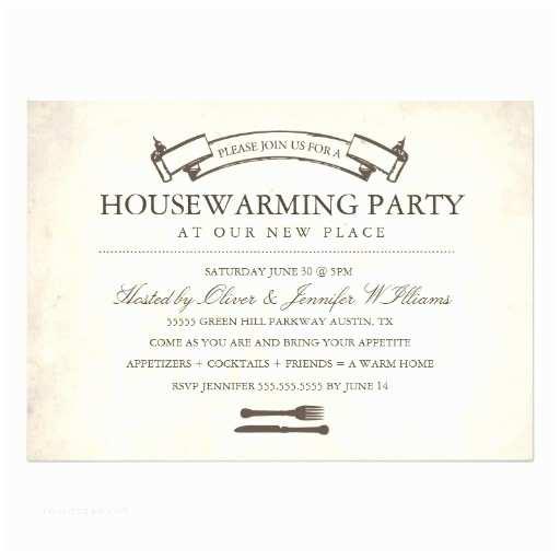 Housewarming Party Invitation Fun Vintage Housewarming Party Invitation Card