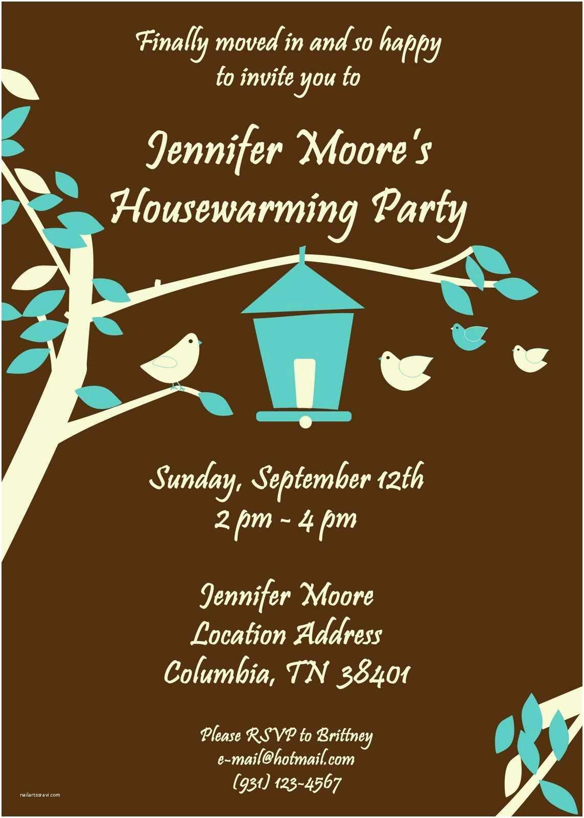 Housewarming Party Invitation Housewarming Party Invitation Sample