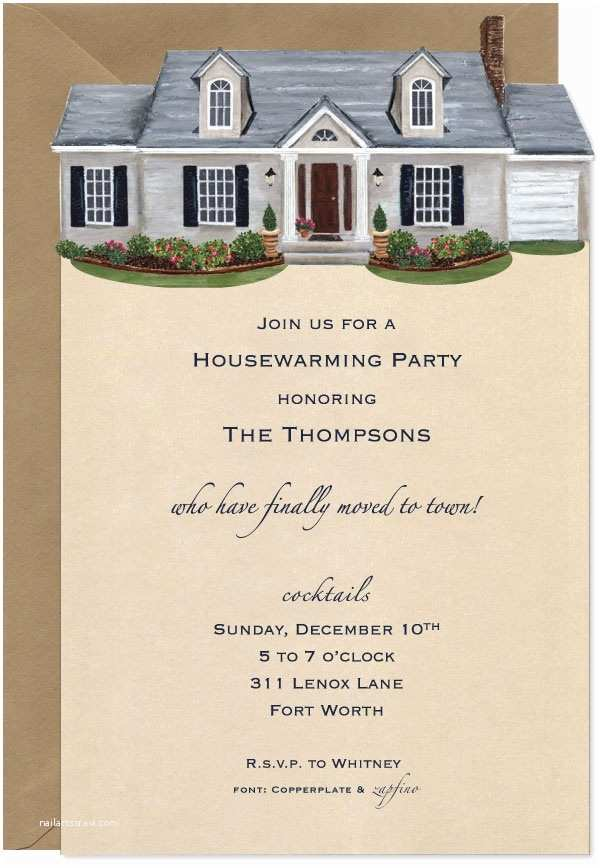 Housewarming Party Invitation  Cute House Warming Invitation Party
