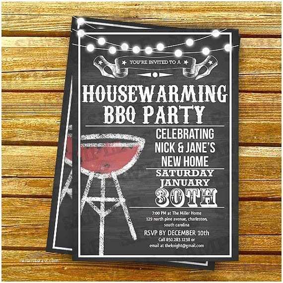 Housewarming Party Invitation Ideas Housewarming Bbq Party Invitations