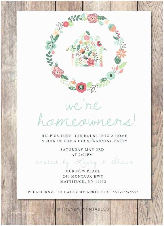 Housewarming  Invitation Ideas