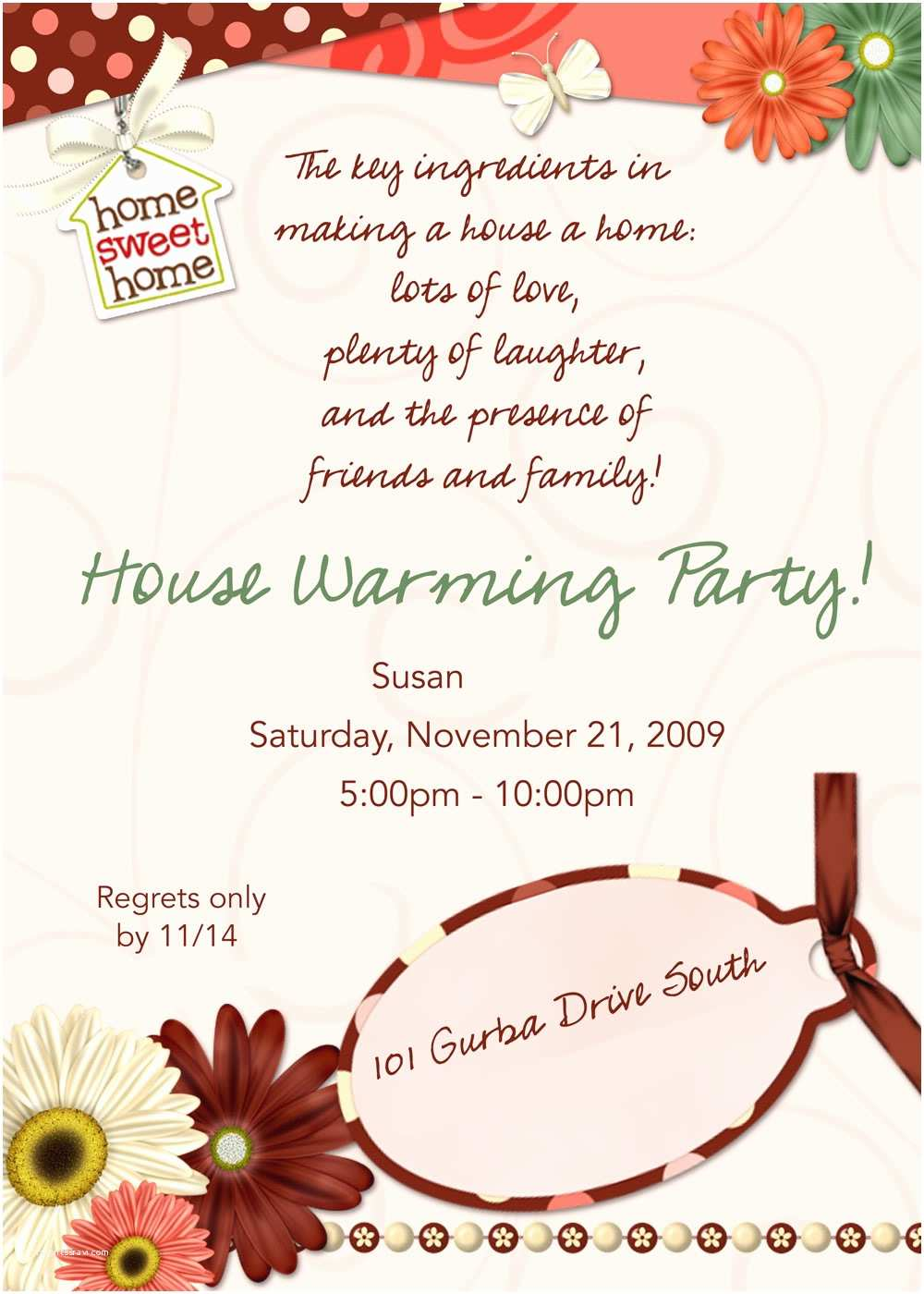 Housewarming Party Invitation Template House Warming Invitation