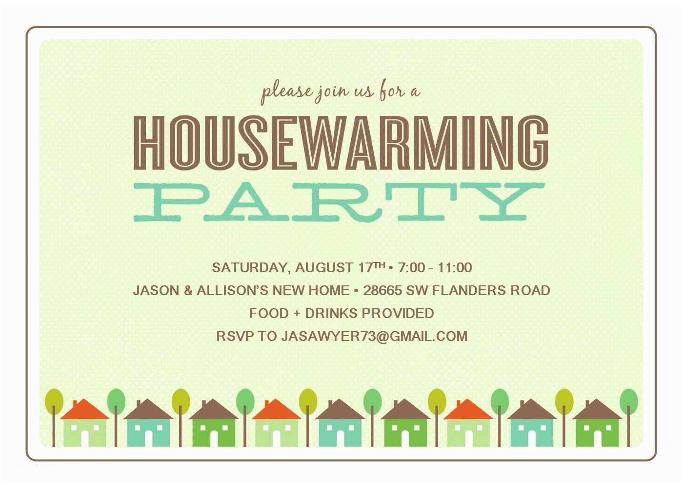 Housewarming Party Invitation Template House Warming Invitation Template