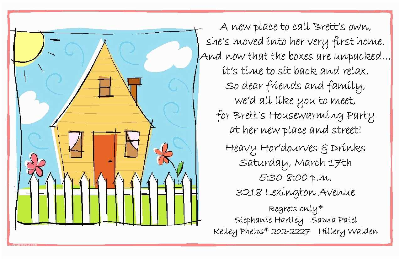 Housewarming Party Invitation Template Proper Invitations for Housewarming and Engagement Party