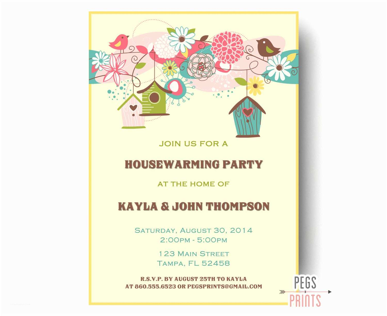 Housewarming Party Invitations Birdhouse Housewarming Party Invitation Bird Housewarming