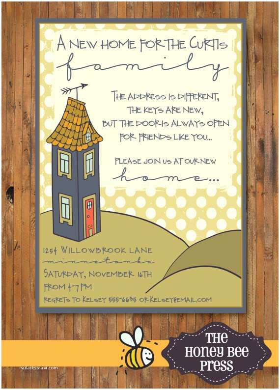Housewarming Party Invites New Home Housewarming Party Invitation New Home Open House