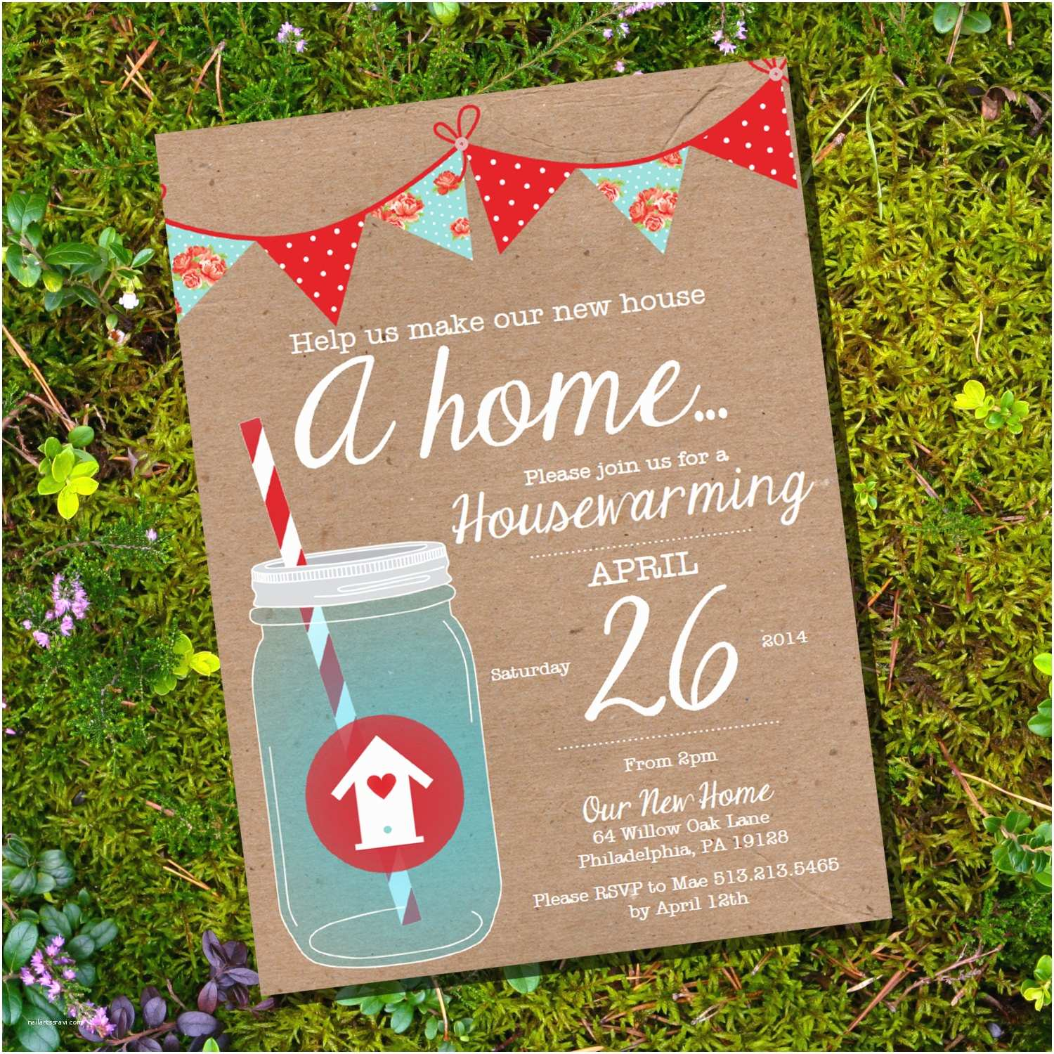 Housewarming Party Invites Shabby Chic Housewarming Invitation Housewarming Party