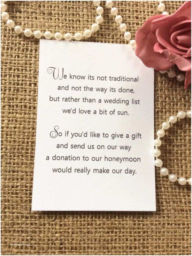 How to ask for Money On A Wedding Invite 25 50 Wedding Gift Money Poem Small Cards asking for