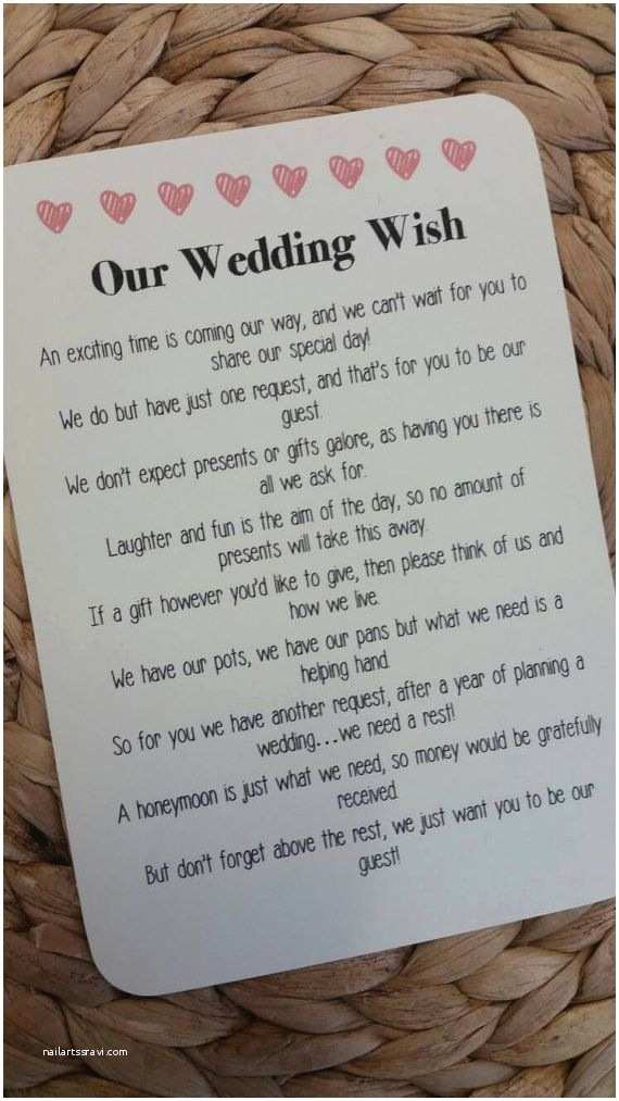How to ask for Money On A Wedding Invite Best 25 Wedding T Poem Ideas On Pinterest