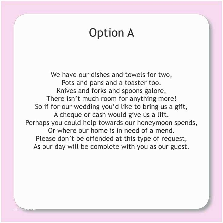 How to ask for Money On A Wedding Invite Wording for Wedding Invitations asking for Money Google