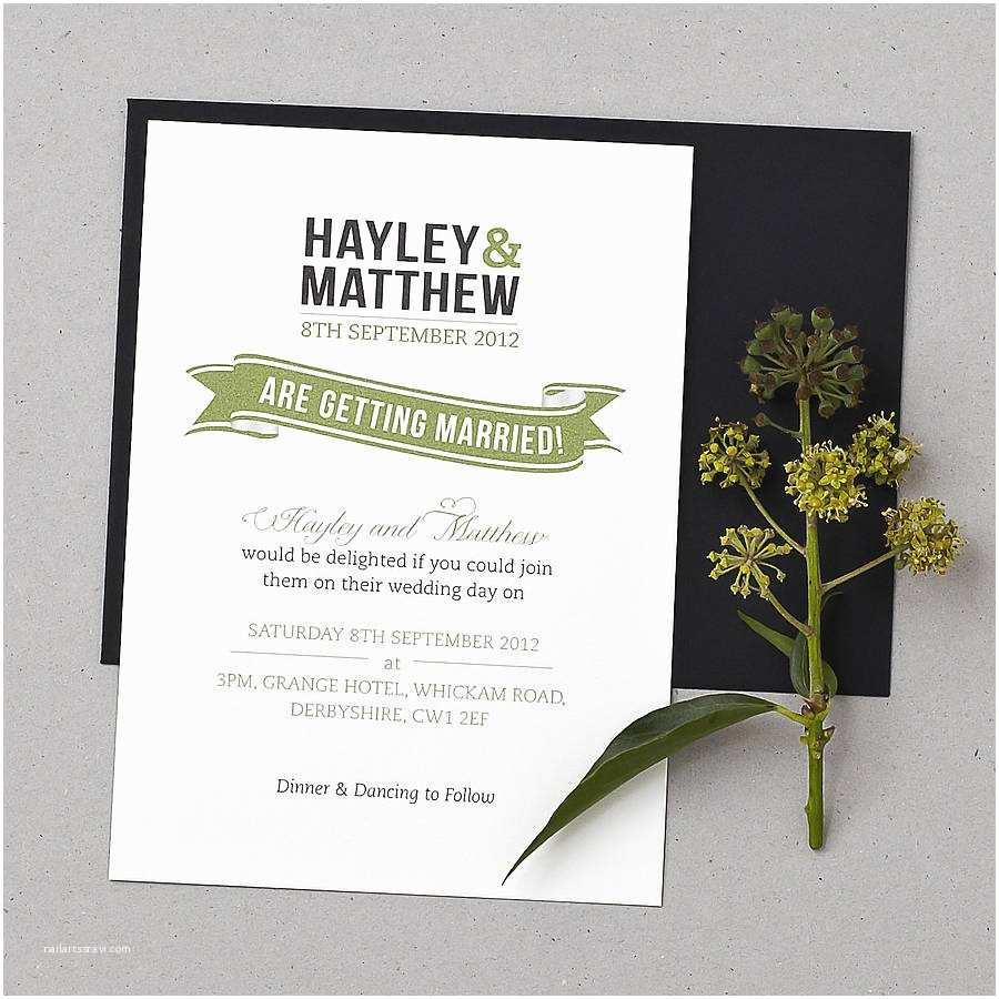 How To Create Wedding Invitation Baker Street Wedding Invitation Set By