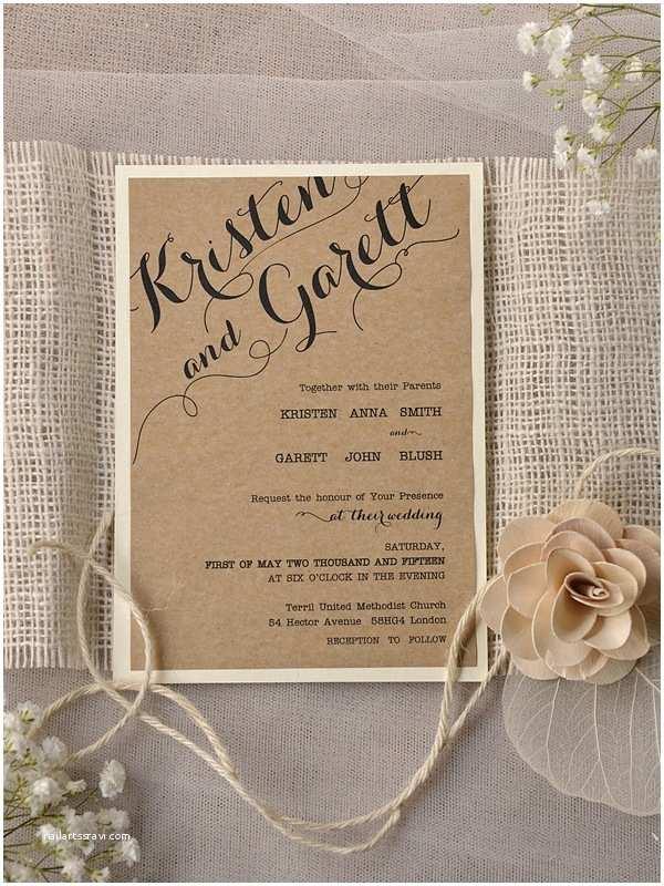 How to Create Wedding Invitation Exclusive Wedding Invitations Rustic