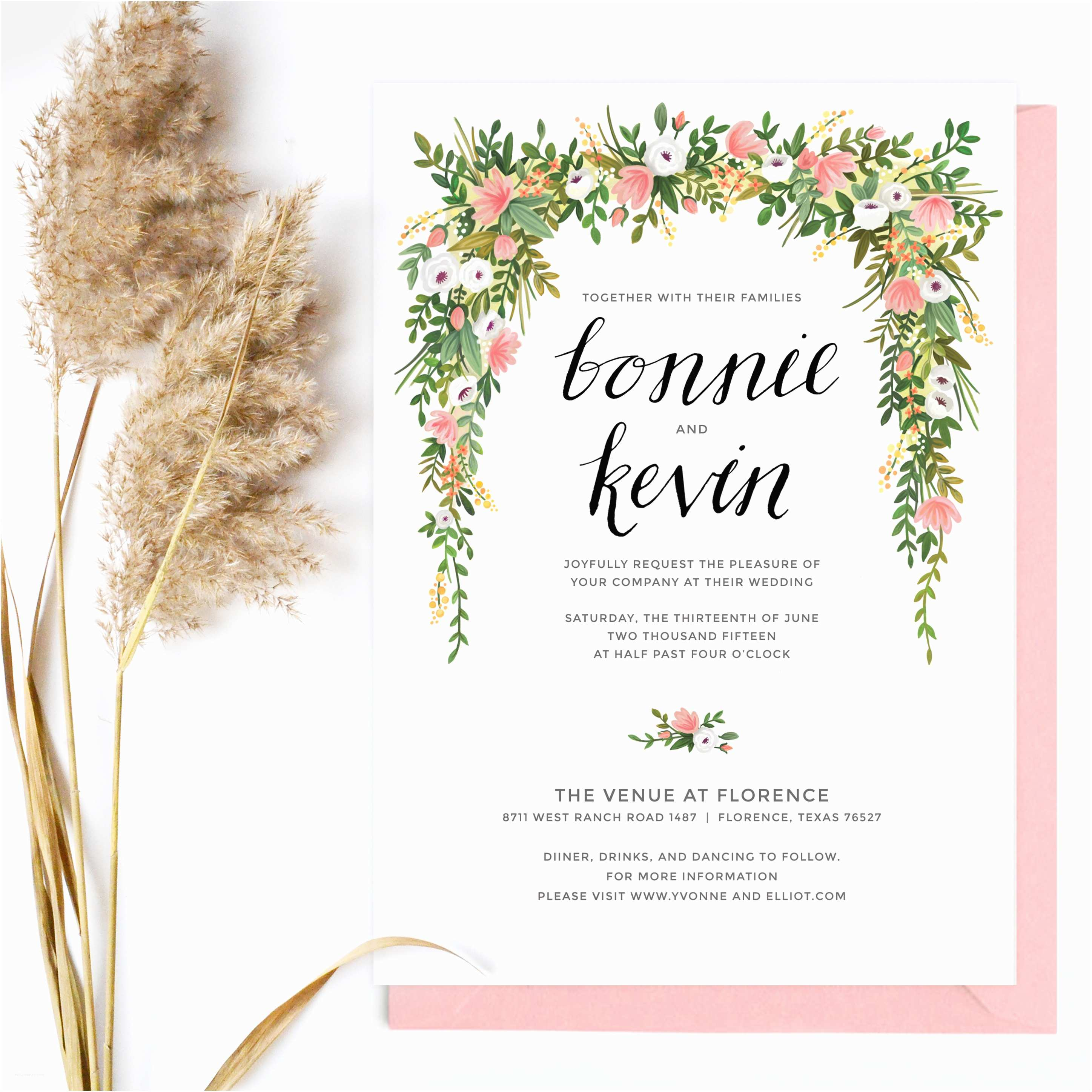 How To Create Wedding Invitation The Best Loved Floral Wedding