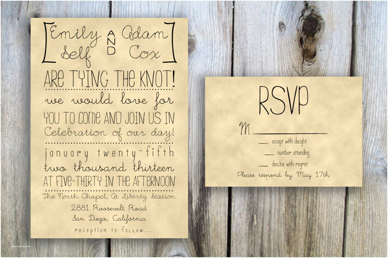 How to Diy Wedding Invitations Best Diy Rustic Wedding Invitations