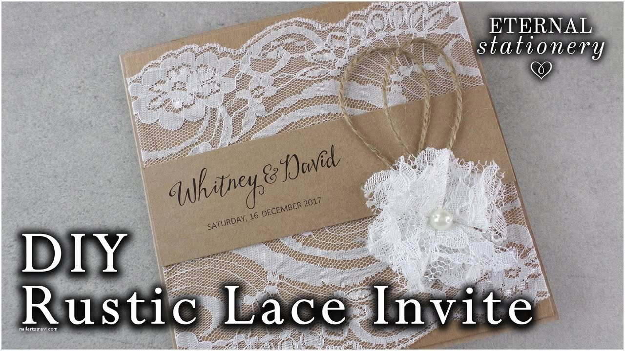 How to Diy Wedding Invitations How to Make A Rustic Style Lace Wedding Invitation