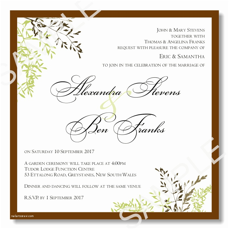 How to Fill Out A Wedding Invitation Fill In Invitations Template