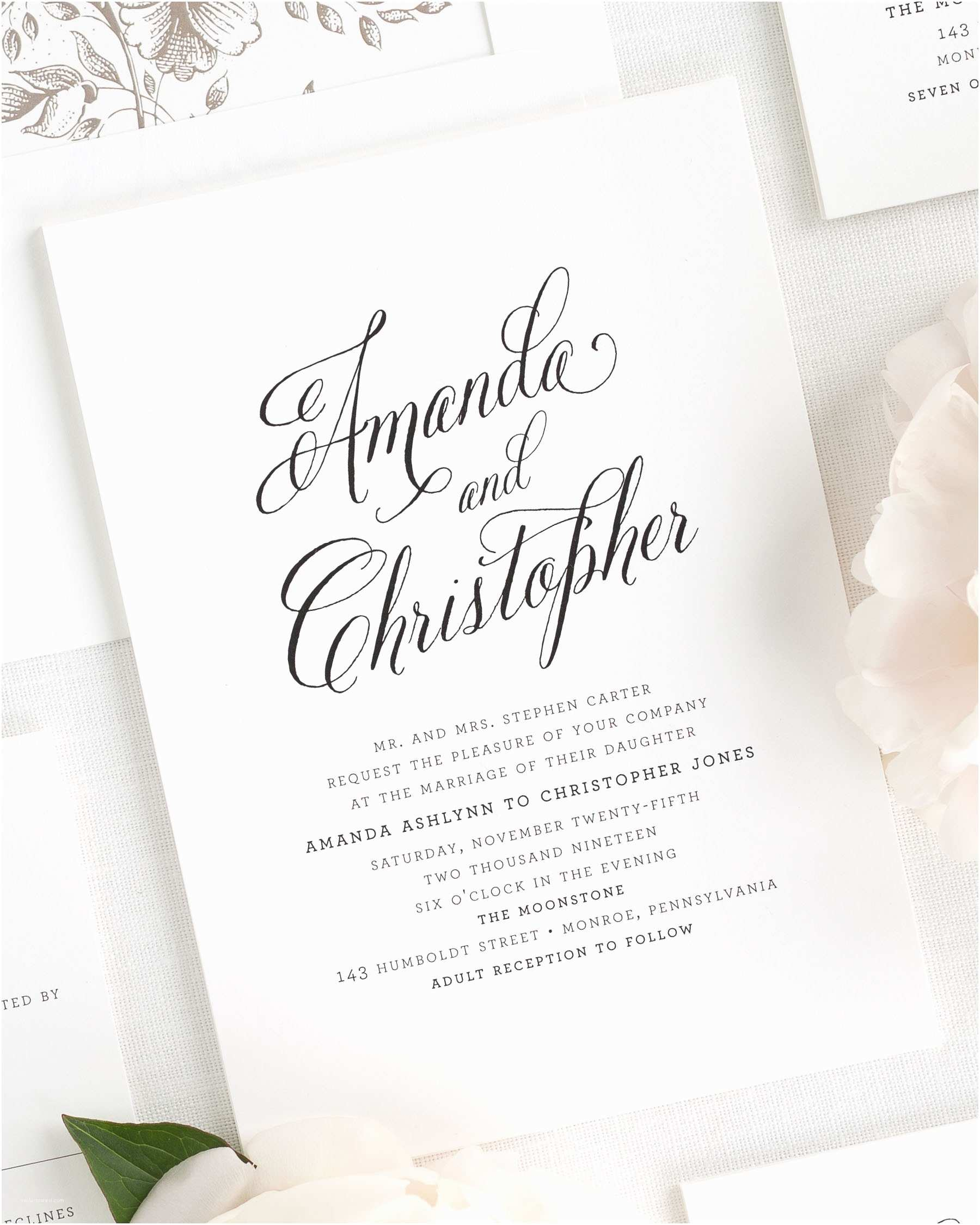 How to Invite for Wedding Rustic Modern Wedding Invitations Wedding Invitations by