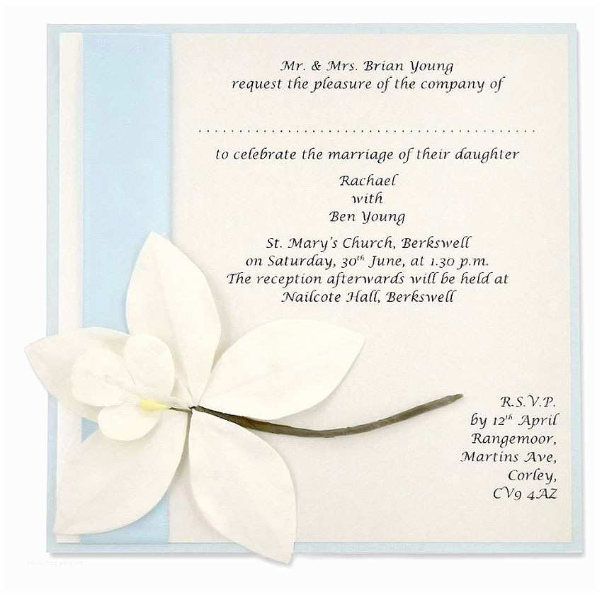How to Invite for Wedding Wedding Invitation Plus E Wording Suggestions Matik for