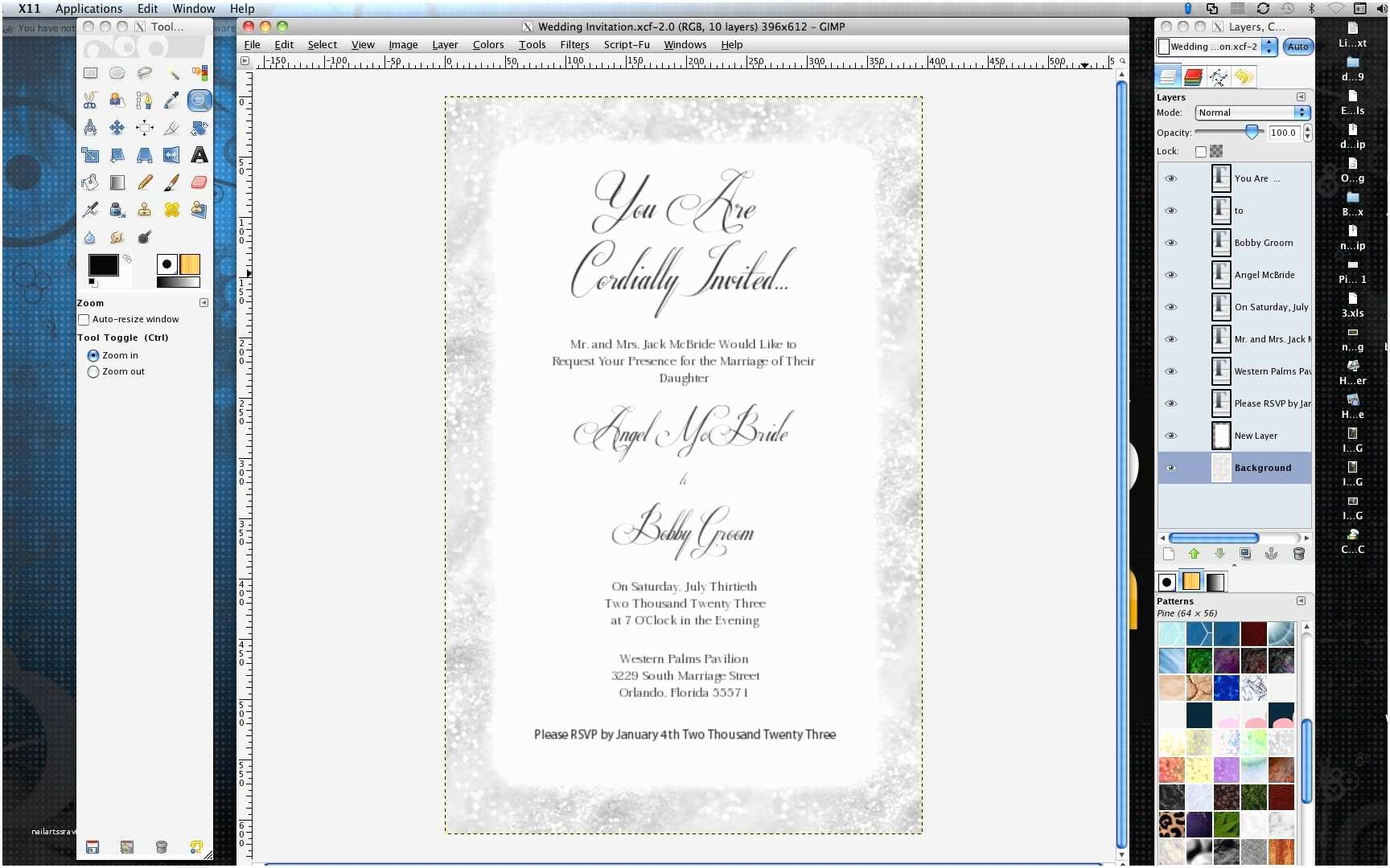 How to Make Wedding Invitations How to Make Wedding Invitations In Gimp