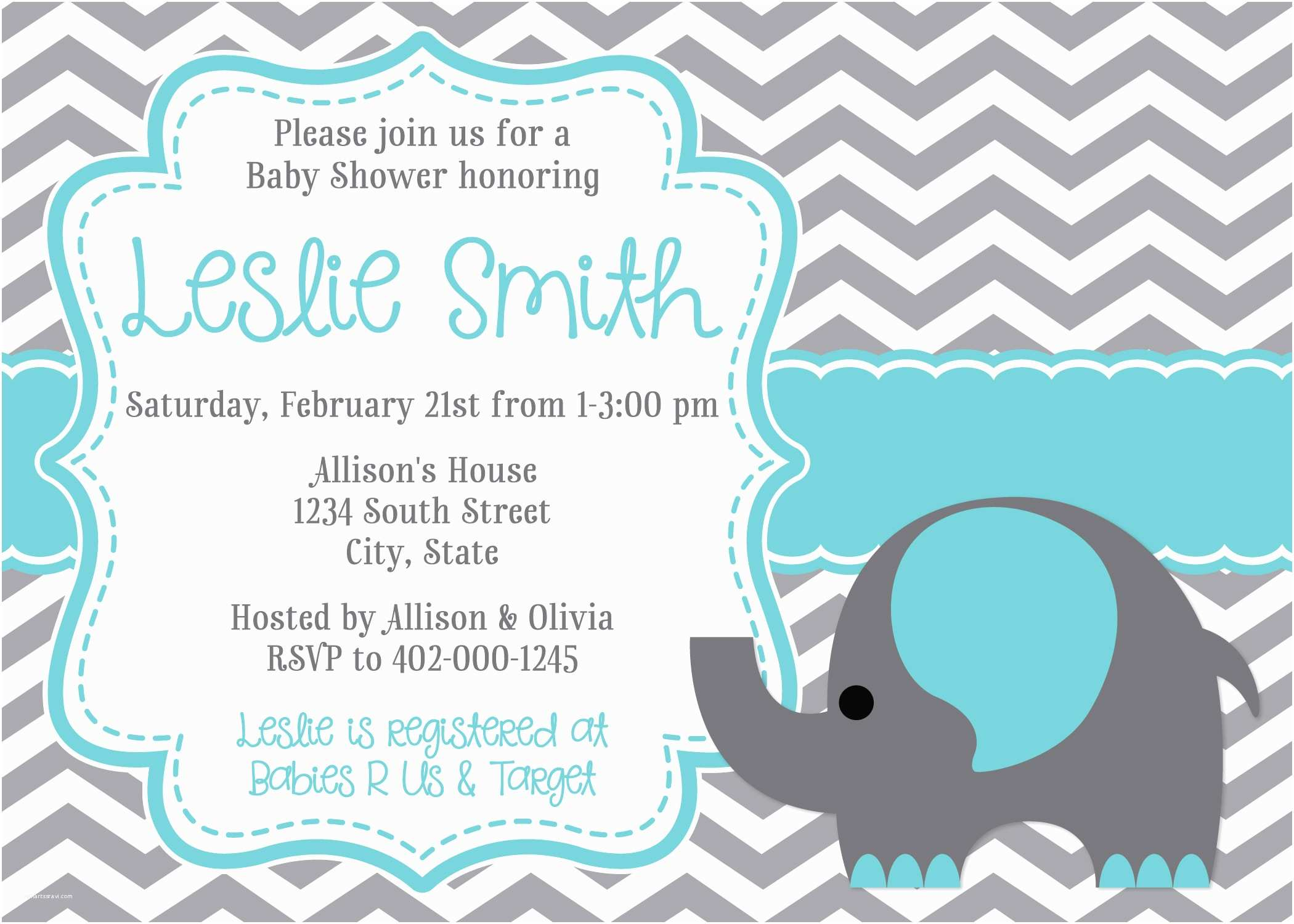 How to Make Your Own Baby Shower Invitations Baby Shower Invitations Elephant
