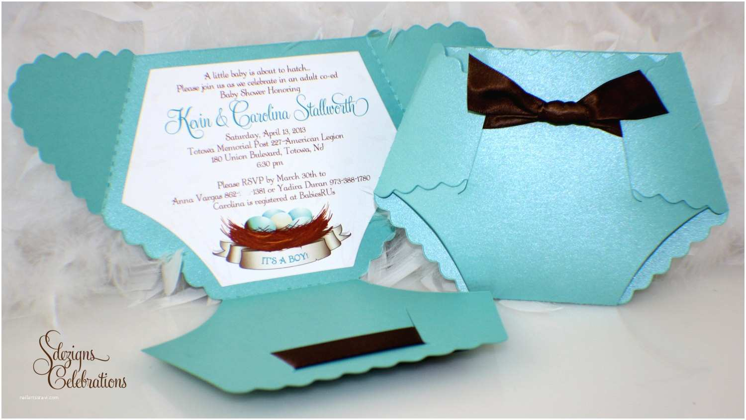 How to Make Your Own Baby Shower Invitations Diaper Baby Shower Invitation