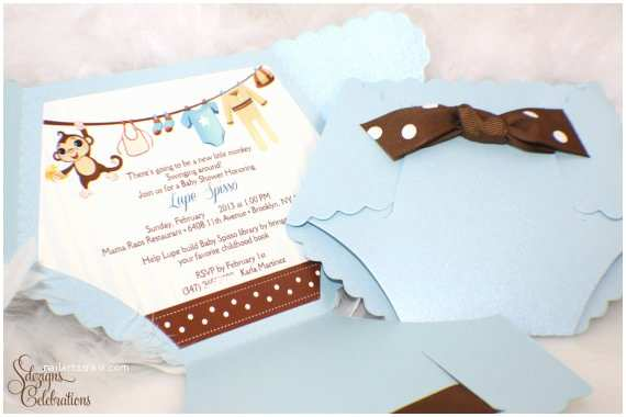 How to Make Your Own Baby Shower Invitations Diaper Shaped Baby Shower Invitations