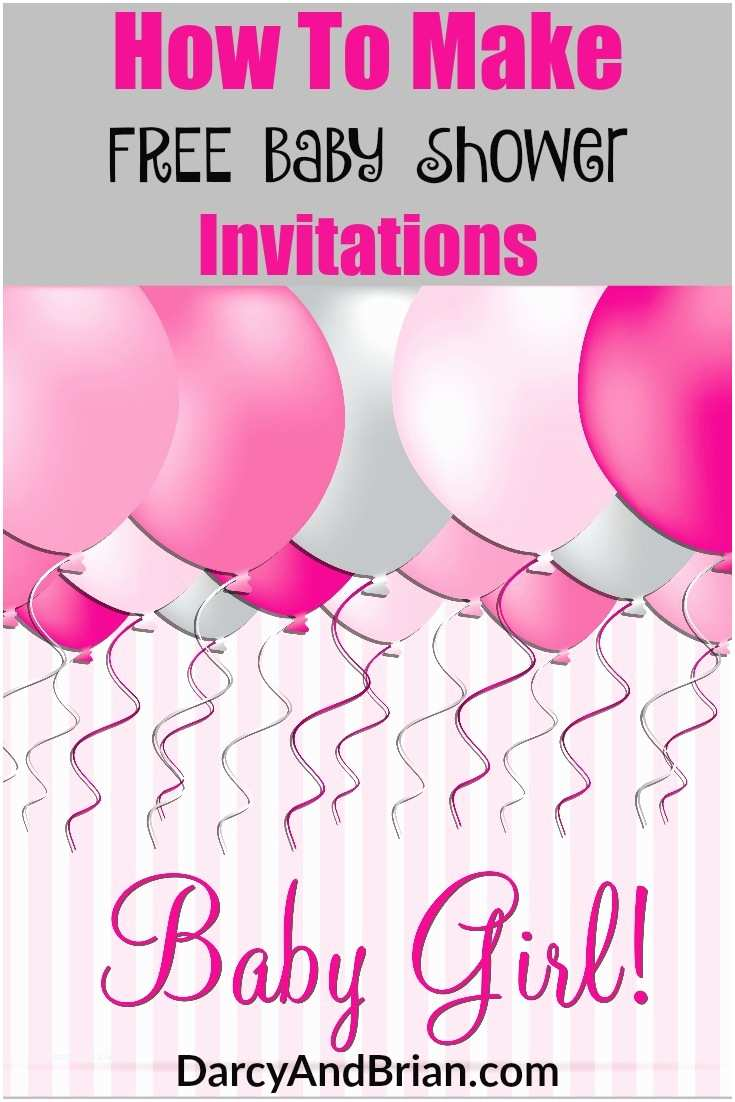 How to Make Your Own Baby Shower Invitations How to Create Free Baby Shower Invitations