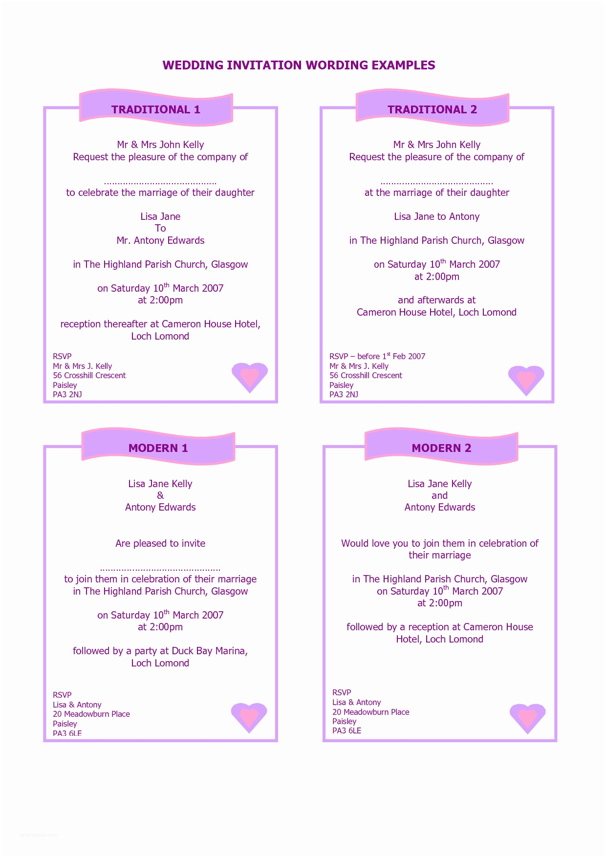 How to Make Your Own Wedding Invitations at Home Interesting Sample Wedding Invitations to Inspire You