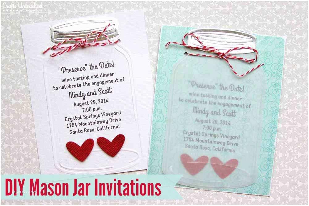 How to Make Your Own Wedding Invitations Mason Jar Wedding Invitations Crafts Unleashed