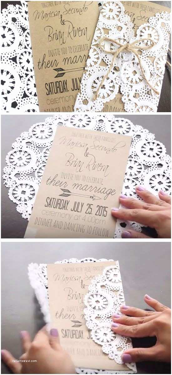 How to Make Your Wedding Invitations at Home 19 Easy to Make Wedding Invitation Ideas