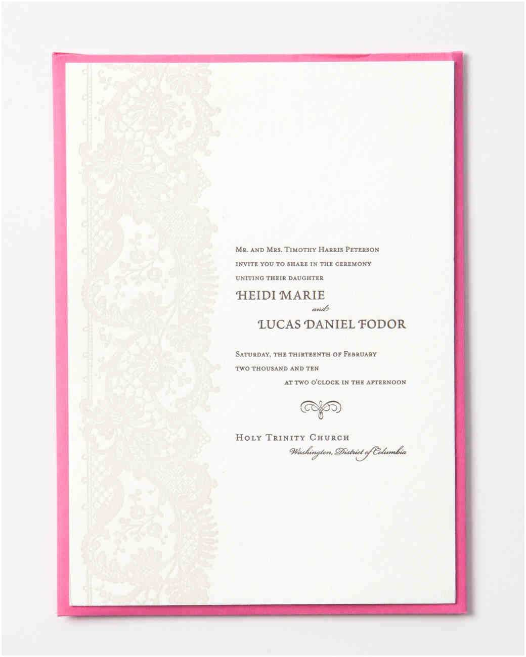 How to Make Your Wedding Invitations at Home 9 Host Line Scenarios to Make Wording Your Wedding